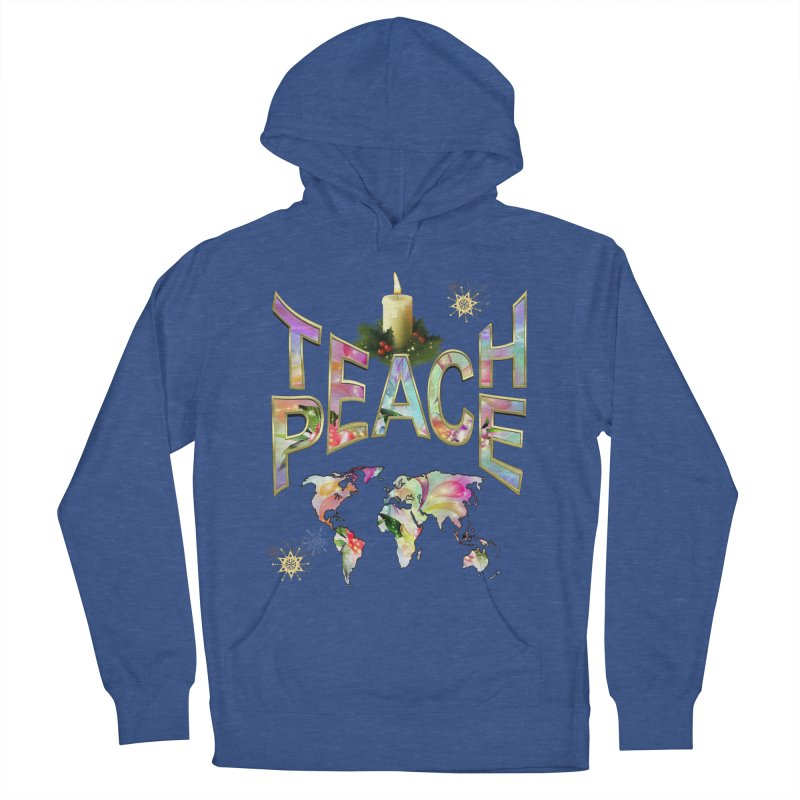 Teach Peace celebration Women's Pullover Hoody by NadineMay Artist Shop