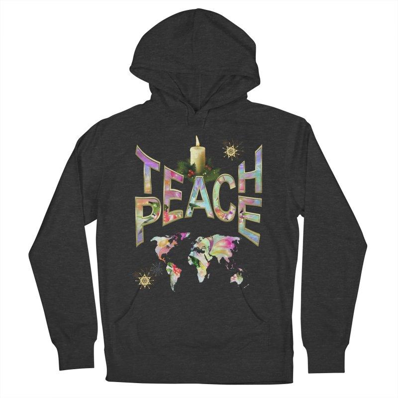 Teach Peace celebration Men's Pullover Hoody by NadineMay Artist Shop
