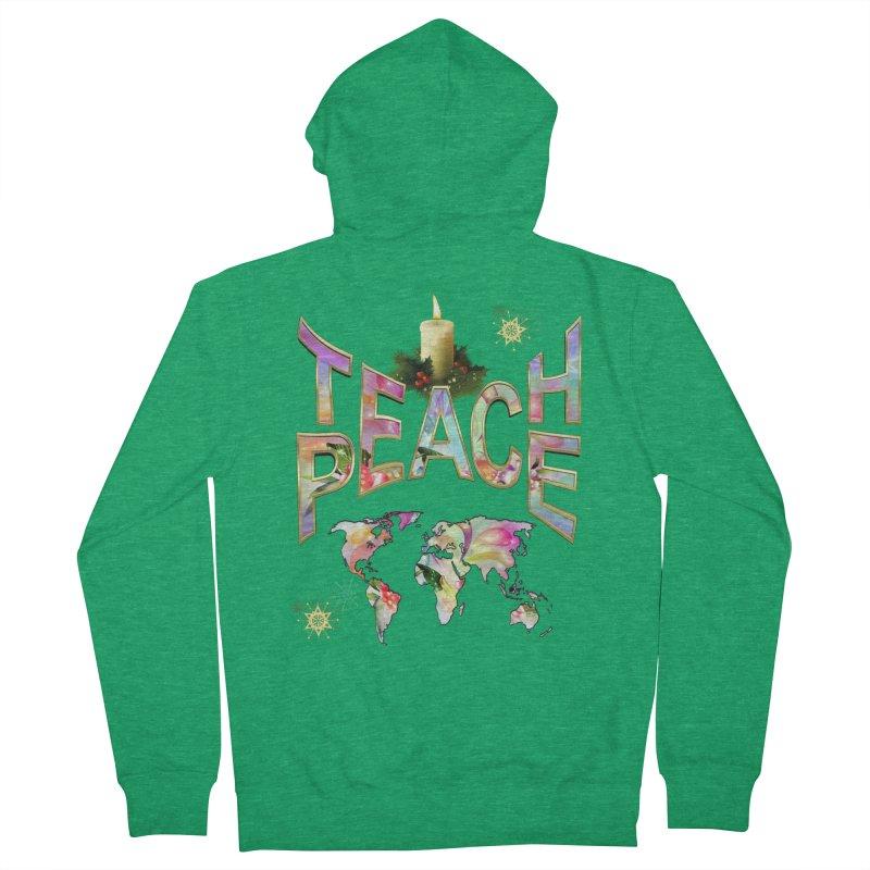 Teach Peace celebration Women's Zip-Up Hoody by NadineMay Artist Shop