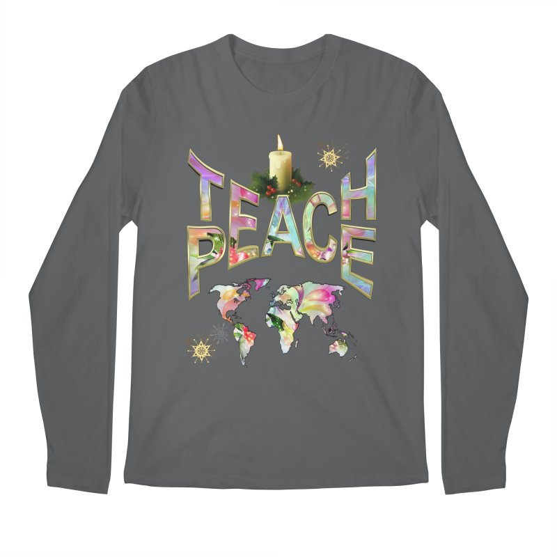 Teach Peace celebration Men's Regular Longsleeve T-Shirt by NadineMay Artist Shop
