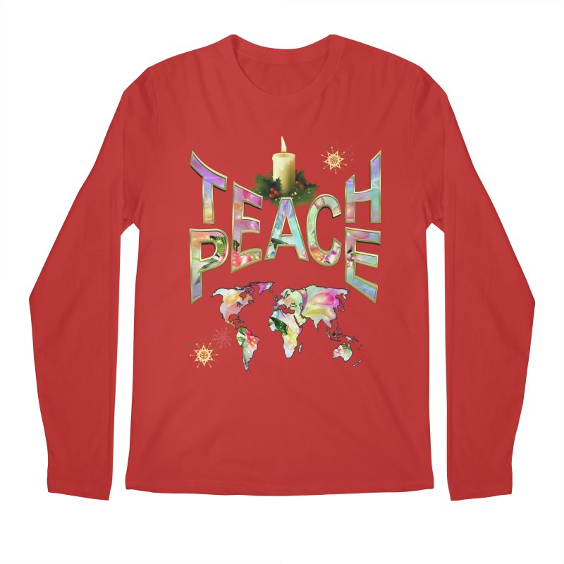 Teach Peace celebration Men's Longsleeve T-Shirt by NadineMay Artist Shop