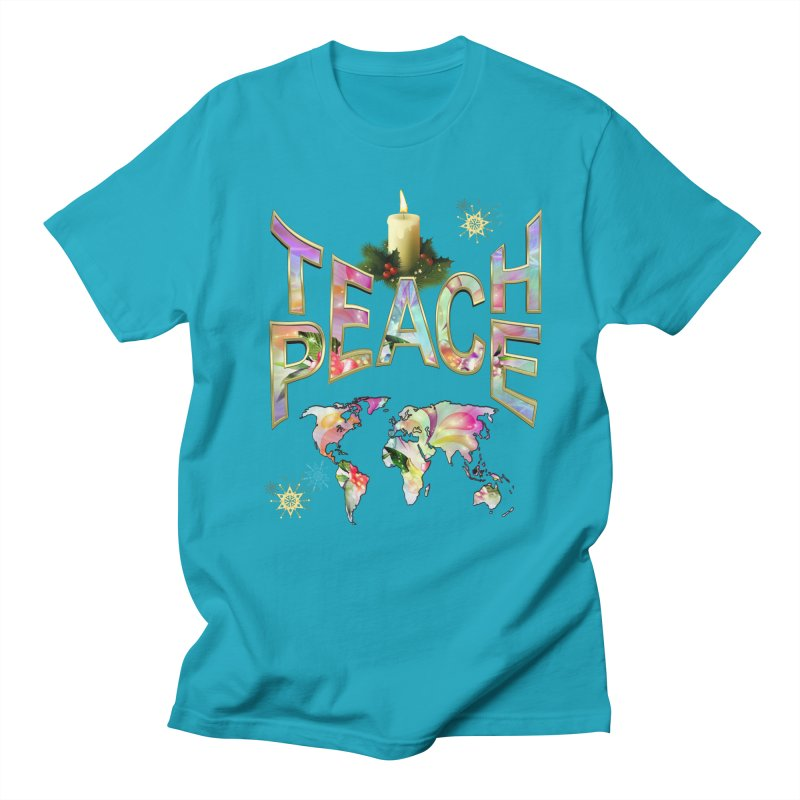 Teach Peace celebration Men's Regular T-Shirt by NadineMay Artist Shop
