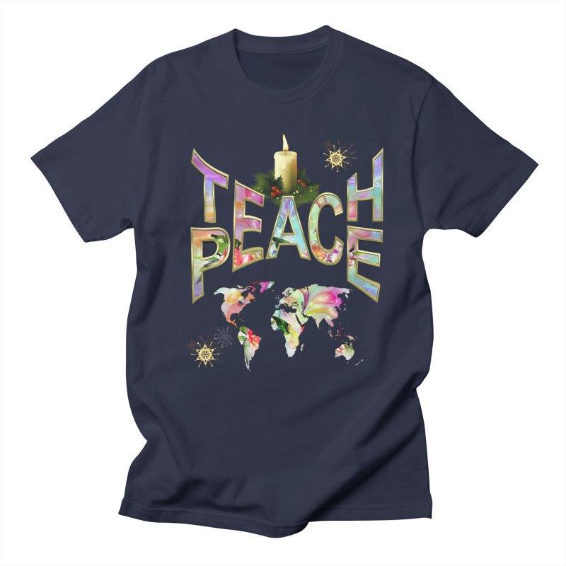 Teach Peace celebration Men's T-Shirt by NadineMay Artist Shop