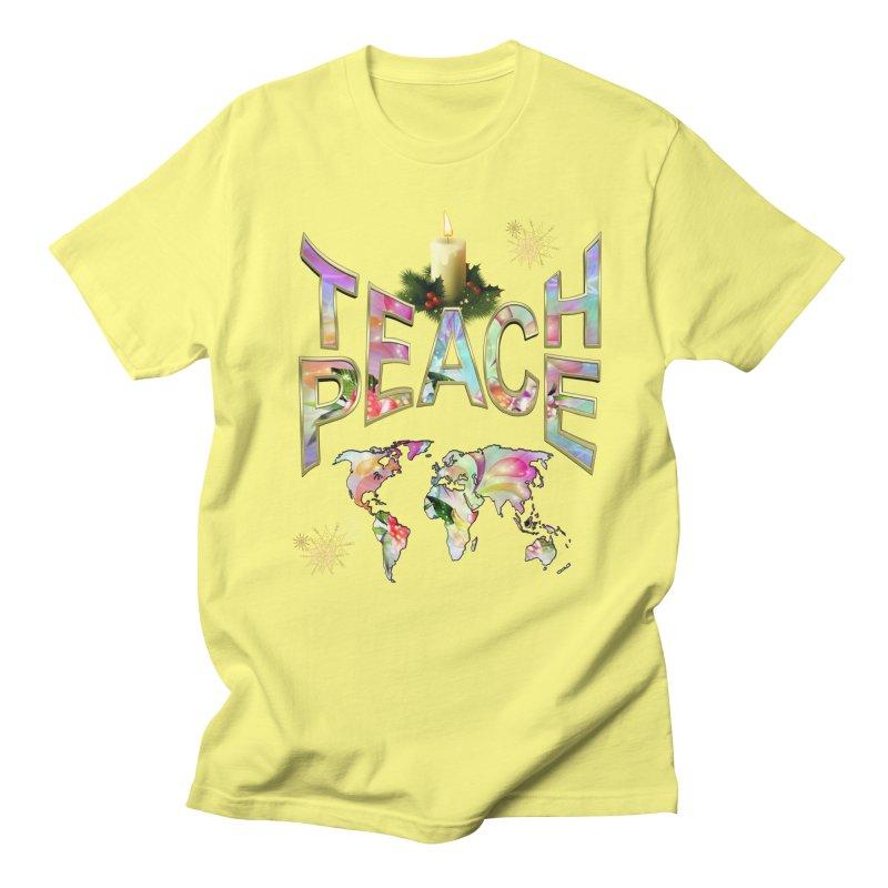 Teach Peace celebration Men's Regular T-Shirt by NadineMay Artist Shop