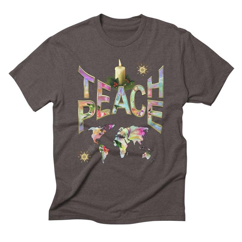 Teach Peace celebration Men's Triblend T-Shirt by NadineMay Artist Shop
