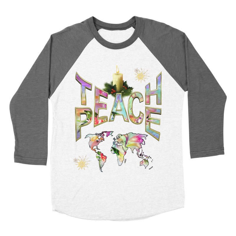 Teach Peace celebration Men's Baseball Triblend T-Shirt by NadineMay Artist Shop