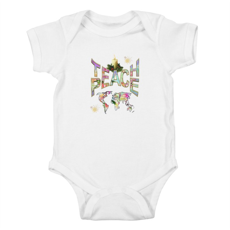 Teach Peace celebration Kids Baby Bodysuit by NadineMay Artist Shop