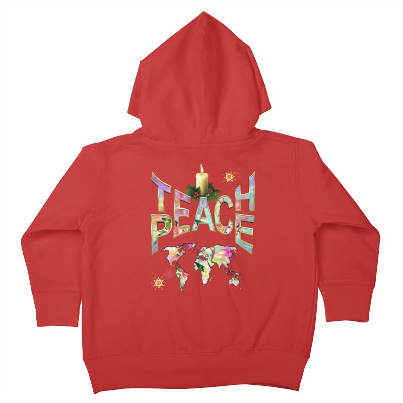 Teach Peace celebration Kids Toddler Zip-Up Hoody by NadineMay Artist Shop