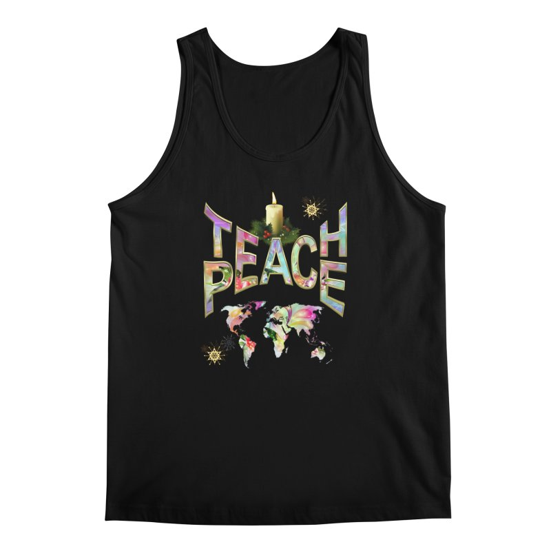 Teach Peace celebration Men's Tank by NadineMay Artist Shop