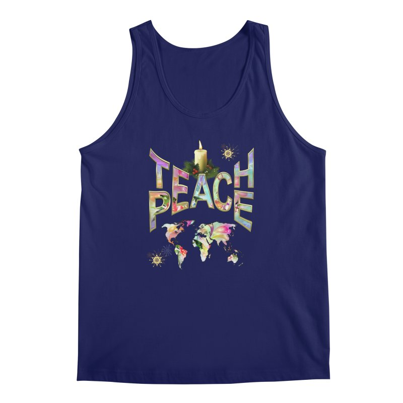 Teach Peace celebration Men's Regular Tank by NadineMay Artist Shop