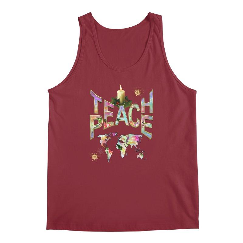Teach Peace celebration Men's Regular Tank by NadineMay Artist Shop