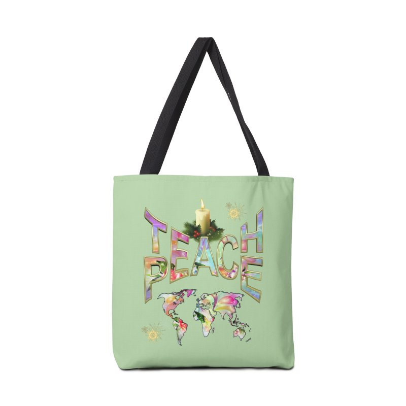 Teach Peace celebration Accessories Bag by NadineMay Artist Shop