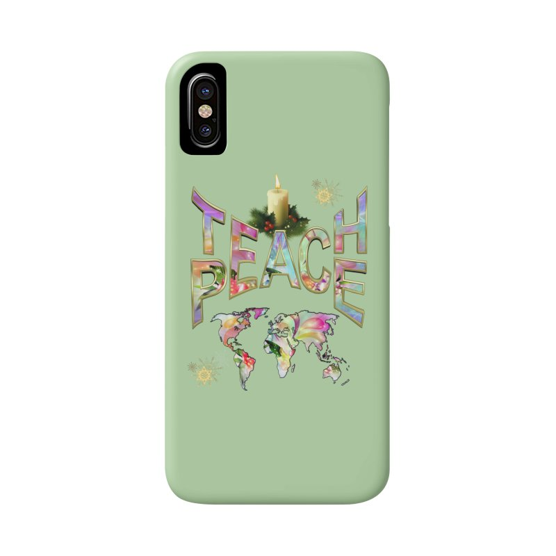 Teach Peace celebration Accessories Phone Case by NadineMay Artist Shop