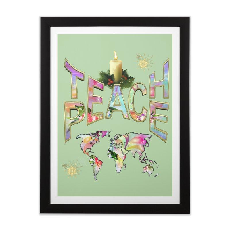 Teach Peace celebration Home Framed Fine Art Print by NadineMay Artist Shop