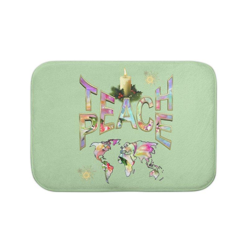 Teach Peace celebration Home Bath Mat by NadineMay Artist Shop