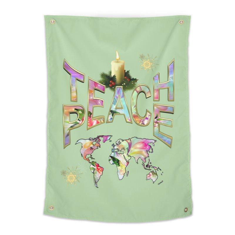 Teach Peace celebration Home Tapestry by NadineMay Artist Shop