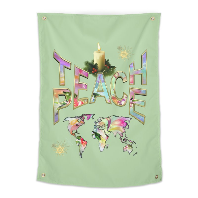 Teach Peace celebration Home Tapestry by NadineMay Artist Shop