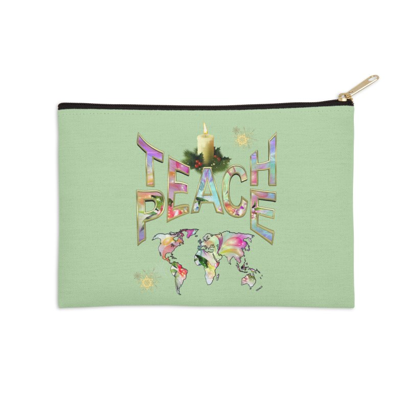 Teach Peace celebration Accessories Zip Pouch by NadineMay Artist Shop