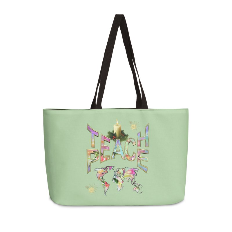 Teach Peace celebration Accessories Weekender Bag Bag by NadineMay Artist Shop
