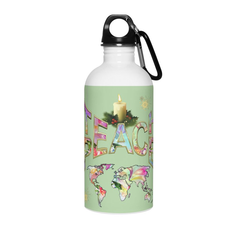 Teach Peace celebration Accessories Water Bottle by NadineMay Artist Shop