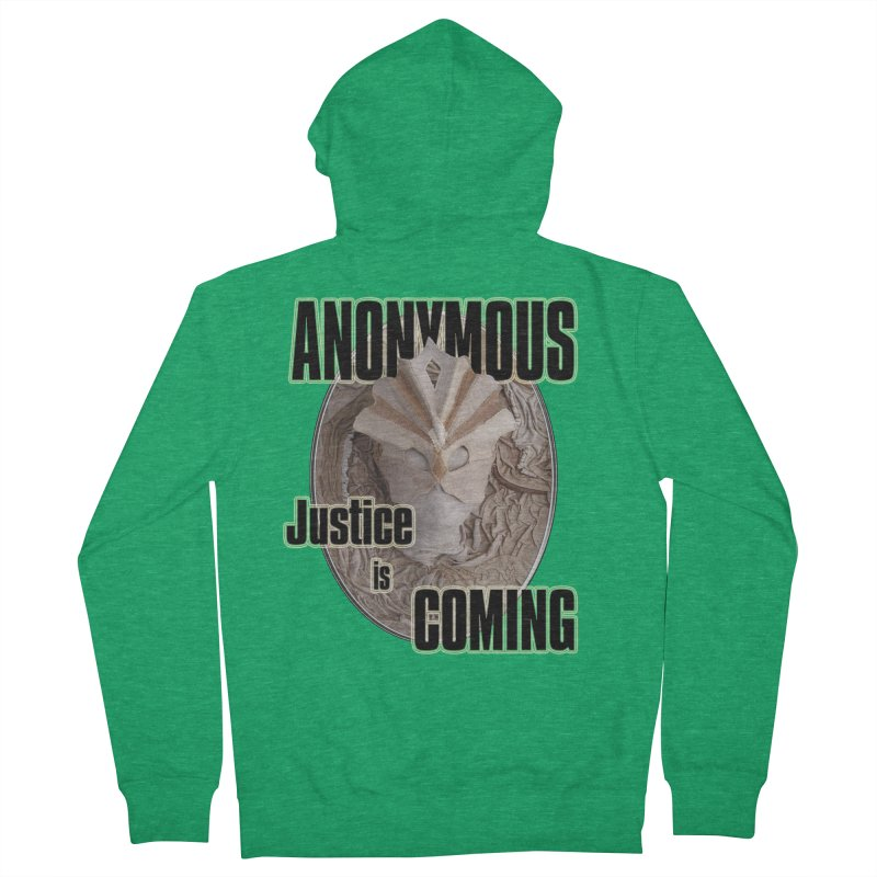 Vote ANONYMOUS Women's Zip-Up Hoody by NadineMay Artist Shop