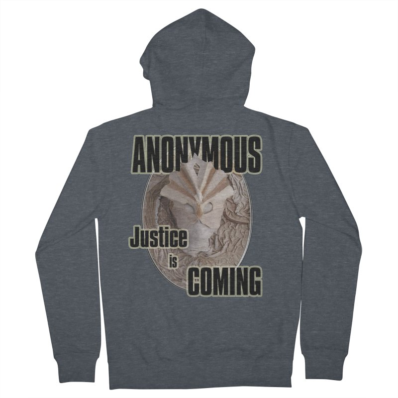 Vote ANONYMOUS Men's French Terry Zip-Up Hoody by NadineMay Artist Shop