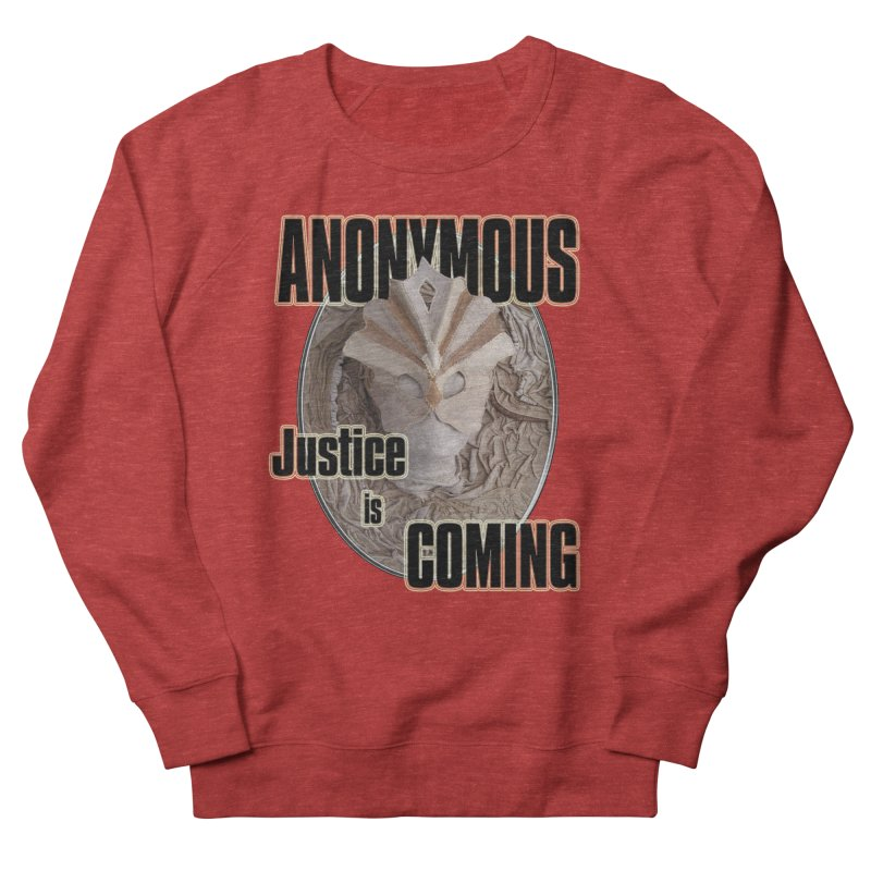 Vote ANONYMOUS Women's French Terry Sweatshirt by NadineMay Artist Shop