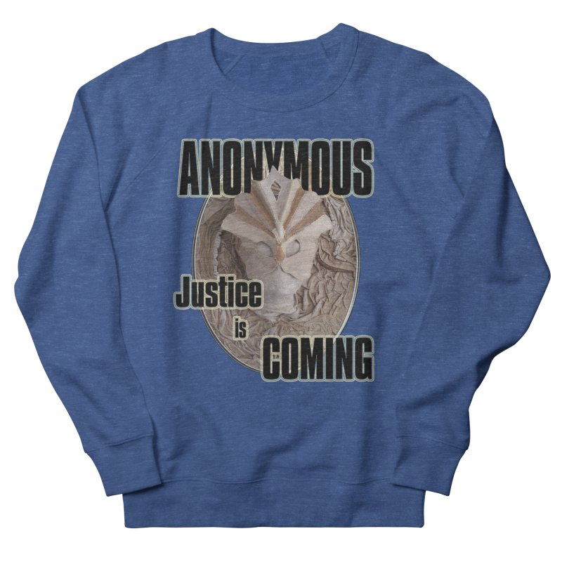Vote ANONYMOUS Men's French Terry Sweatshirt by NadineMay Artist Shop
