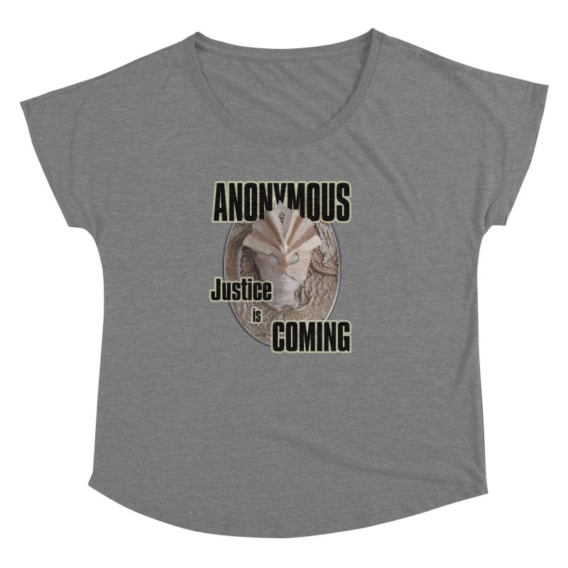 Vote ANONYMOUS Women's Dolman Scoop Neck by NadineMay Artist Shop