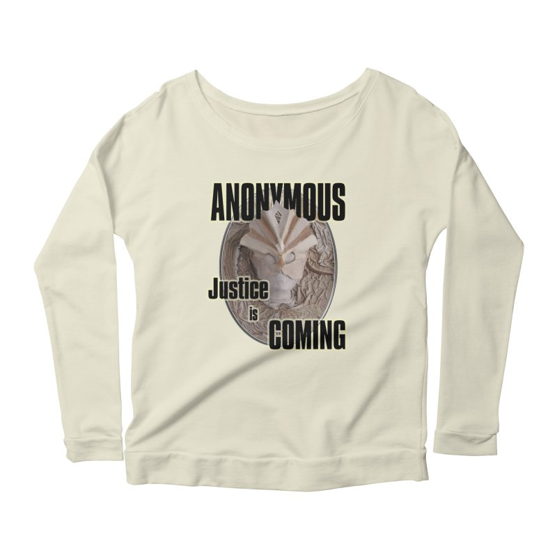 Vote ANONYMOUS Women's Scoop Neck Longsleeve T-Shirt by NadineMay Artist Shop