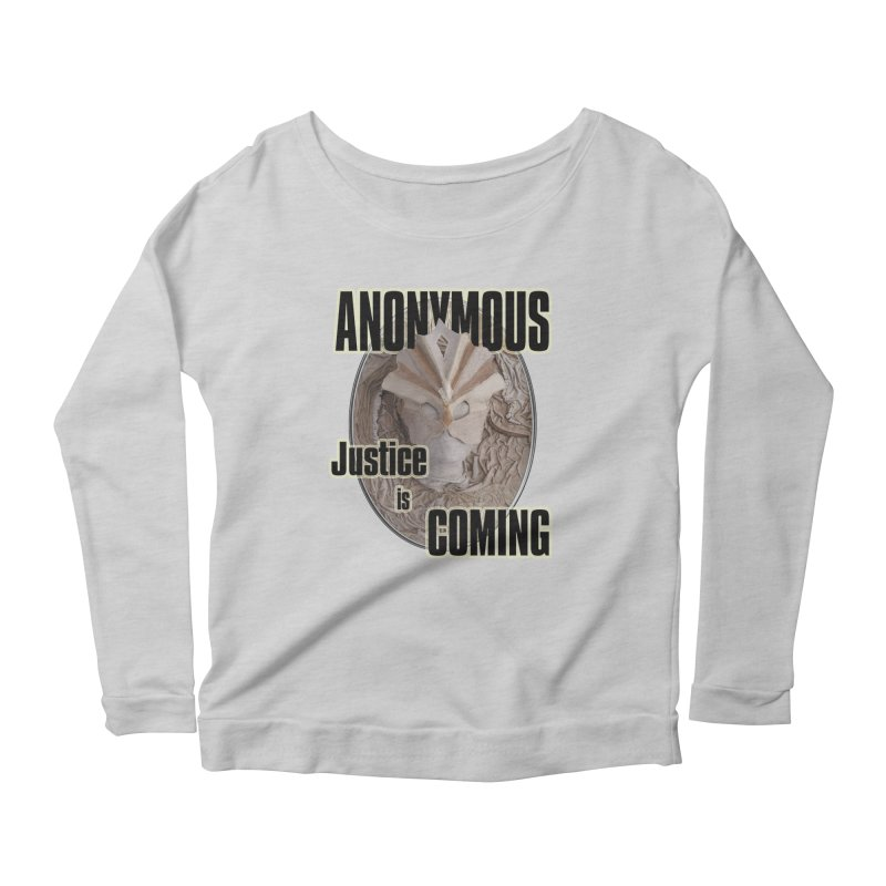 Vote ANONYMOUS Women's Longsleeve Scoopneck  by NadineMay Artist Shop