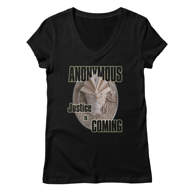 Vote ANONYMOUS Women's V-Neck by NadineMay Artist Shop