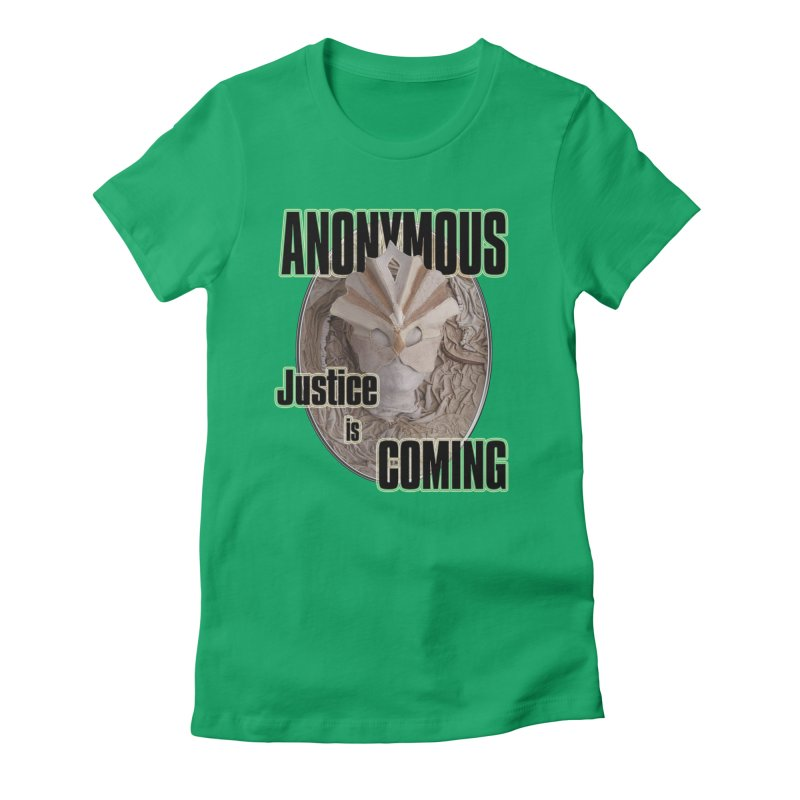 Vote ANONYMOUS Women's Fitted T-Shirt by NadineMay Artist Shop