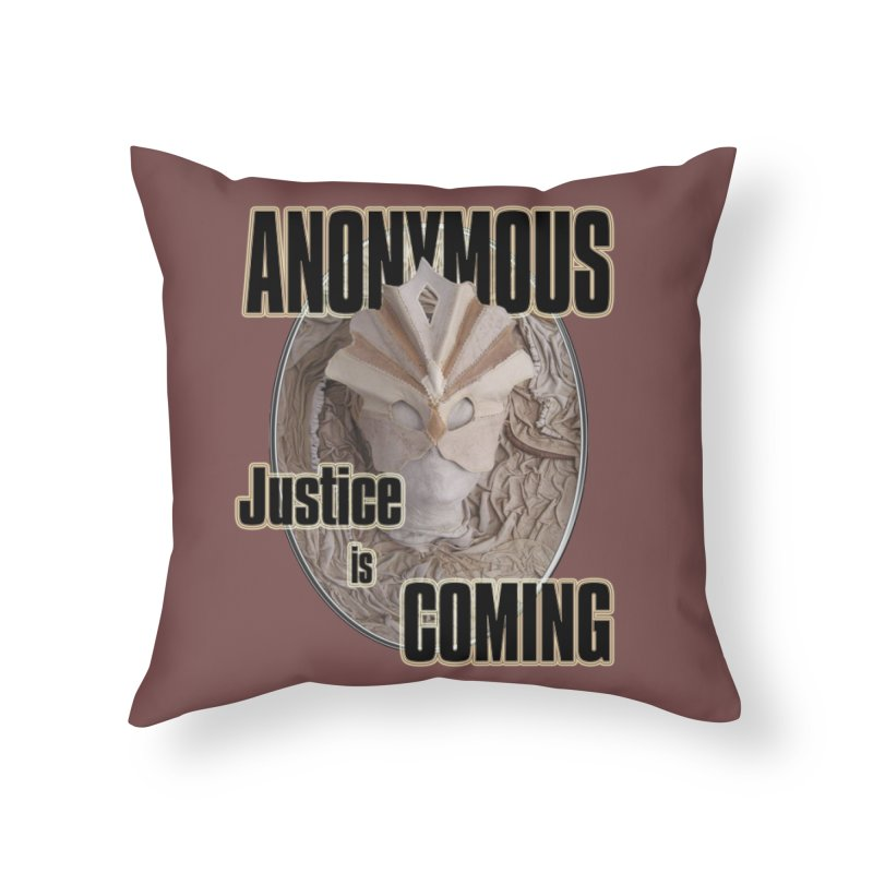 Vote ANONYMOUS Home Throw Pillow by NadineMay Artist Shop