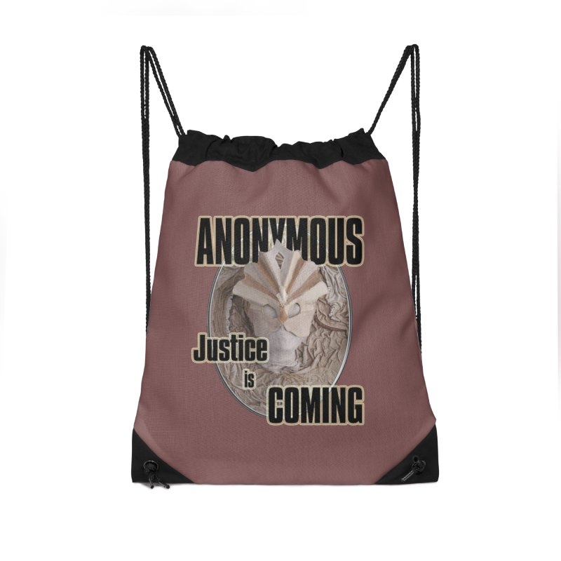 Vote ANONYMOUS Accessories Drawstring Bag Bag by NadineMay Artist Shop
