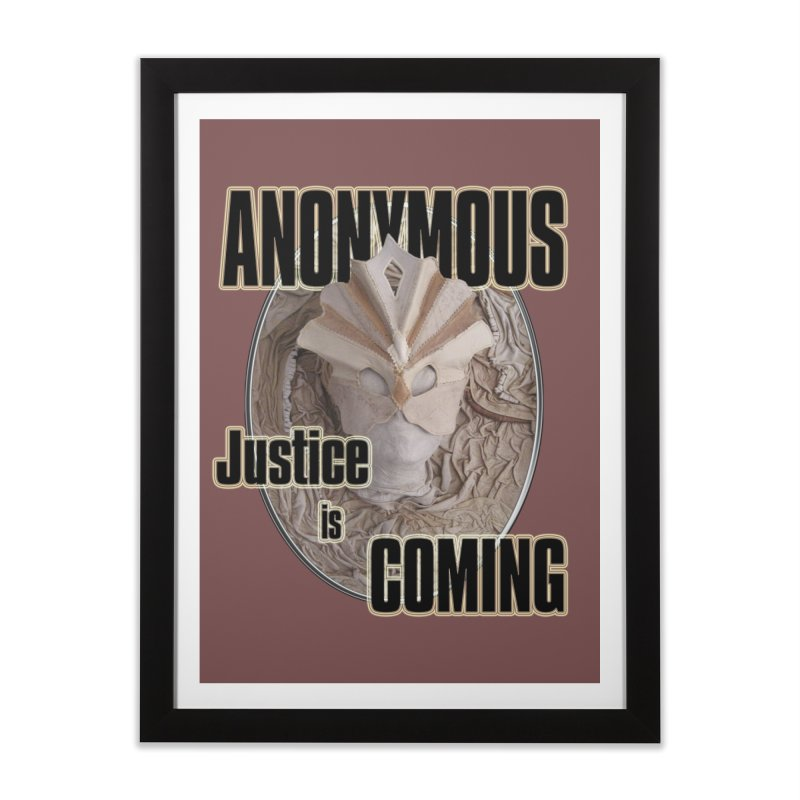 Vote ANONYMOUS Home Framed Fine Art Print by NadineMay Artist Shop