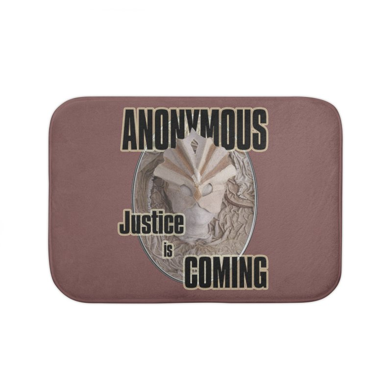 Vote ANONYMOUS Home Bath Mat by NadineMay Artist Shop
