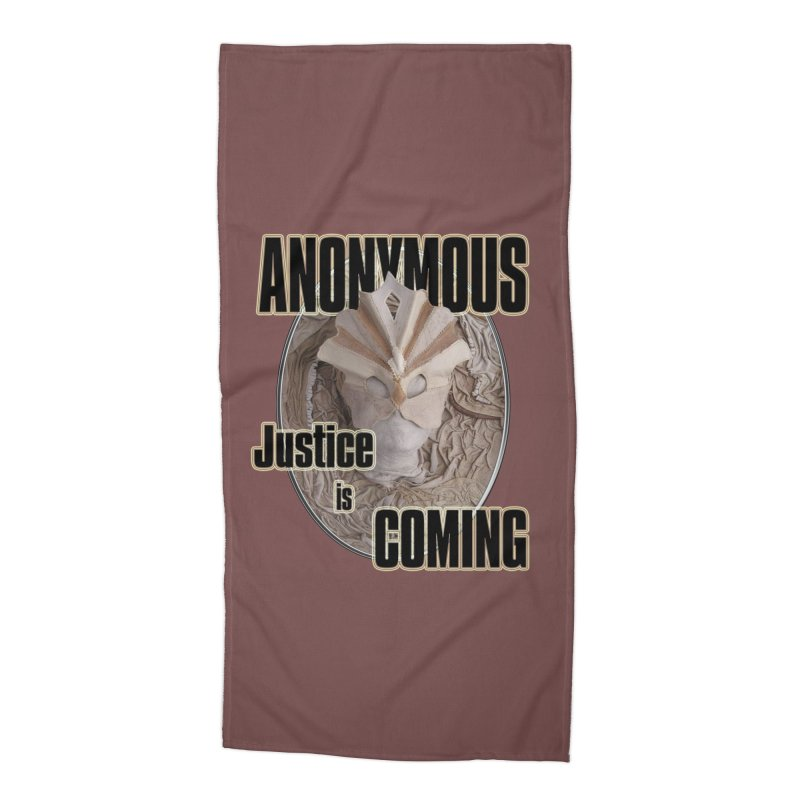 Vote ANONYMOUS Accessories Beach Towel by NadineMay Artist Shop