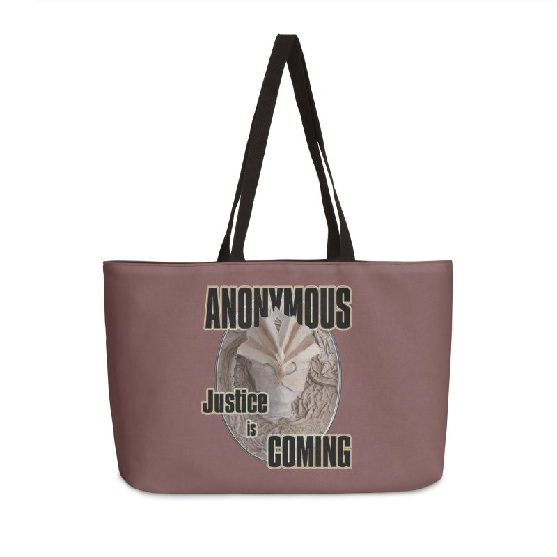 Vote ANONYMOUS Accessories Weekender Bag Bag by NadineMay Artist Shop