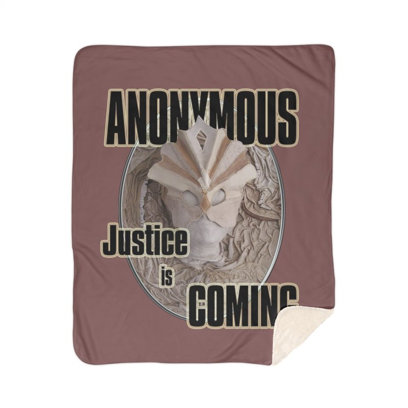 Vote ANONYMOUS Home Sherpa Blanket Blanket by NadineMay Artist Shop
