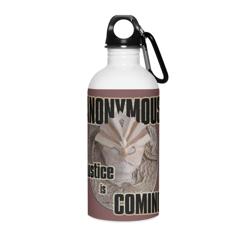 Vote ANONYMOUS Accessories Water Bottle by NadineMay Artist Shop