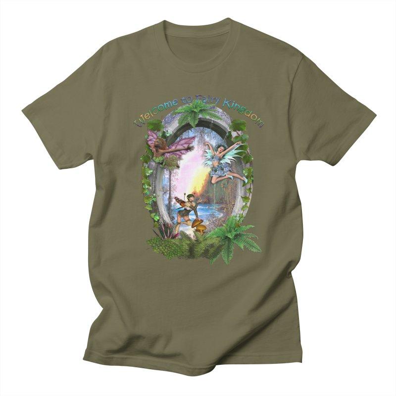 Fairy Kingdom Men's Regular T-Shirt by NadineMay Artist Shop
