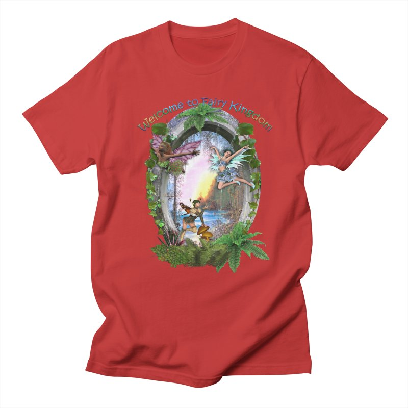 Fairy Kingdom Men's Regular T-Shirt by NadineMay Artist Shop
