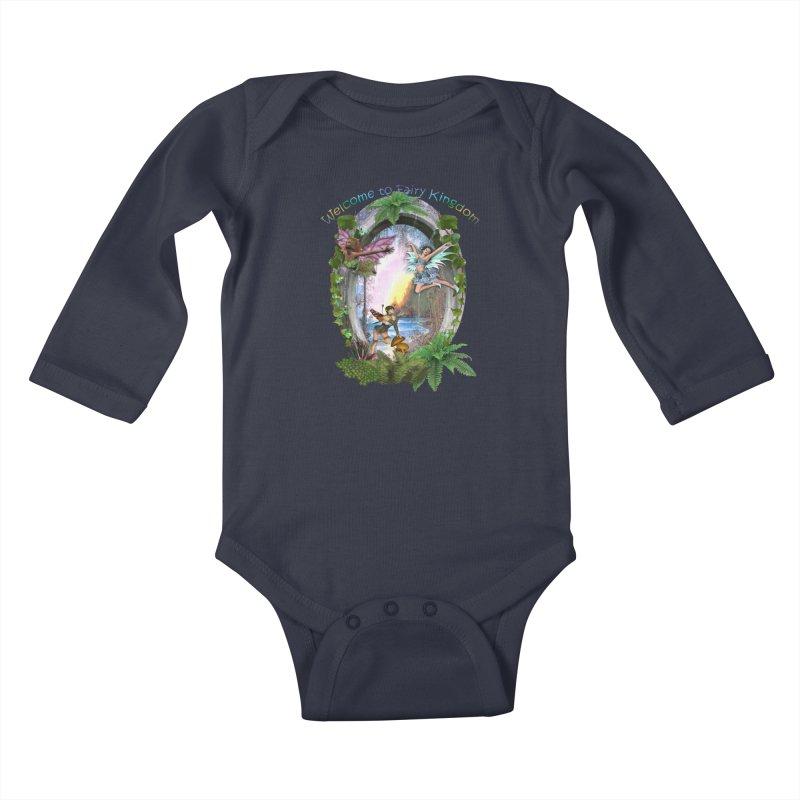 Fairy Kingdom Kids Baby Longsleeve Bodysuit by NadineMay Artist Shop