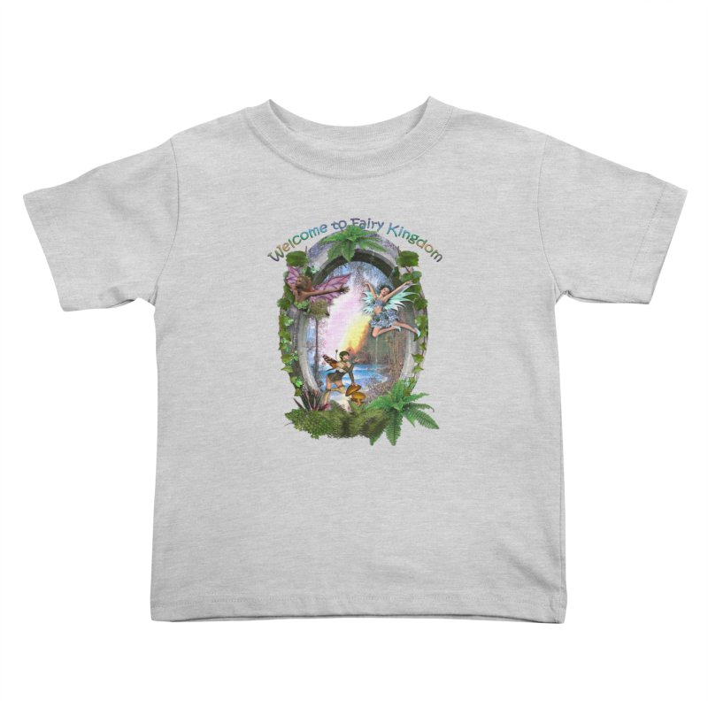 Fairy Kingdom Kids Toddler T-Shirt by NadineMay Artist Shop
