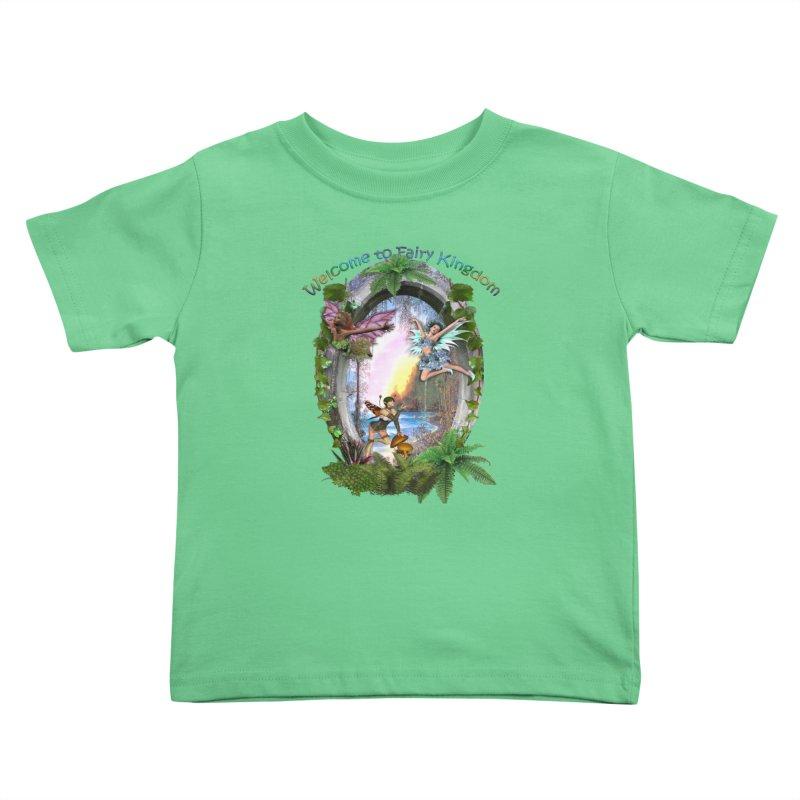 Fairy Kingdom Kids Toddler T-Shirt by NadineMay Artist Shop