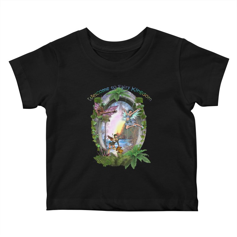 Fairy Kingdom Kids Baby T-Shirt by NadineMay Artist Shop