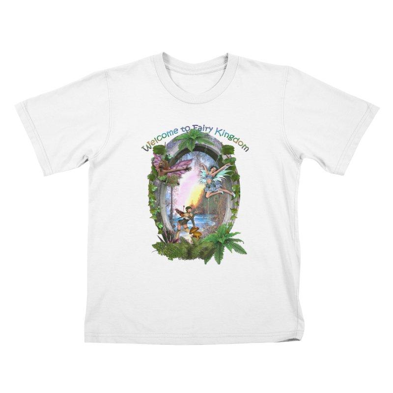 Fairy Kingdom Kids T-Shirt by NadineMay Artist Shop