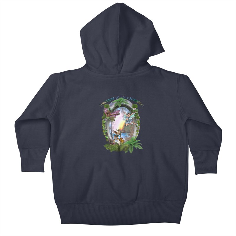 Fairy Kingdom Kids Baby Zip-Up Hoody by NadineMay Artist Shop