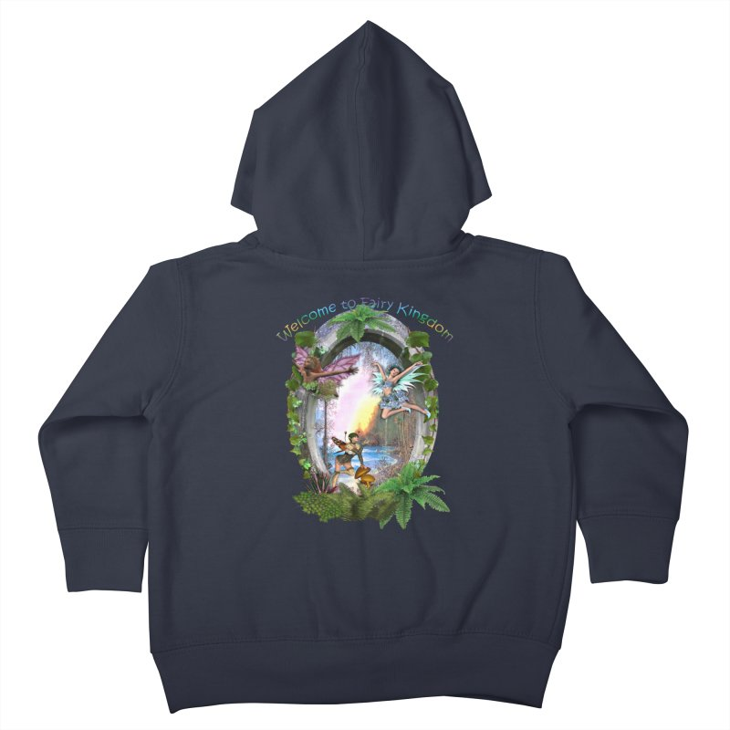 Fairy Kingdom Kids Toddler Zip-Up Hoody by NadineMay Artist Shop